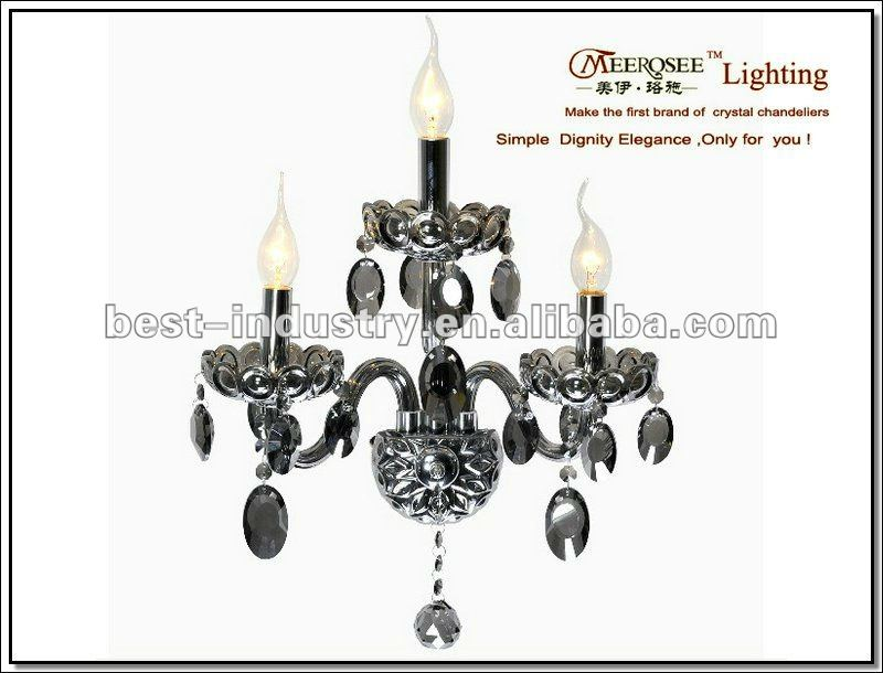 2012 CE&UL approval decorative candle wall sconce with on off switch,Meerosee Lighting