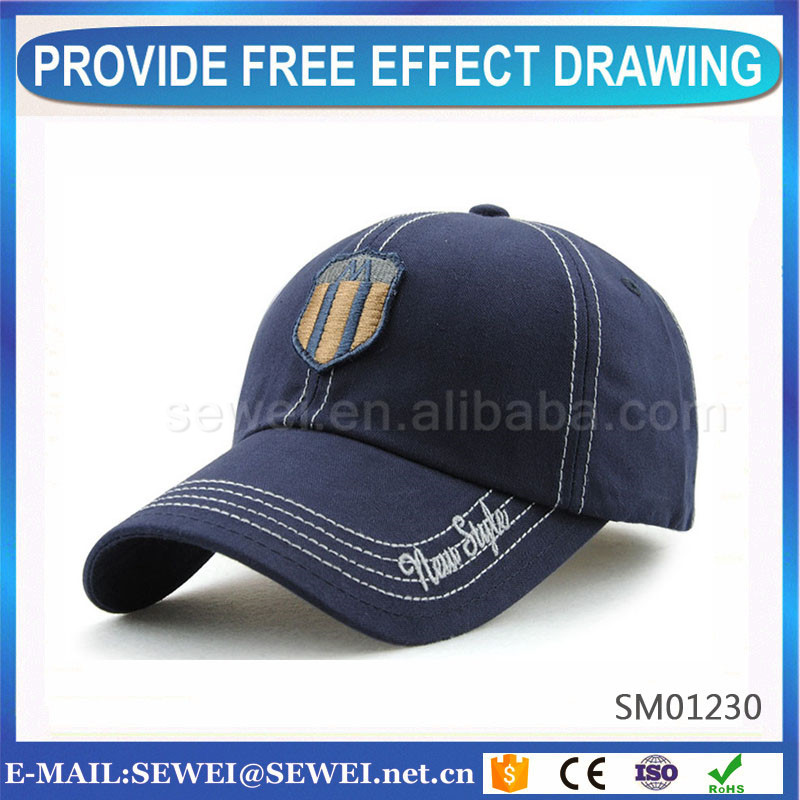 High quality long duration time washed plain yellow baseball cap no logo manufacturer