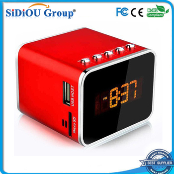 Battery Operated Red Led Alarm Clock Radio
