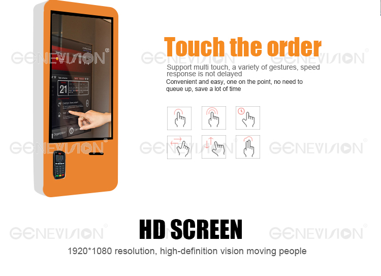 Indoor AD Display 32 inch Photo printer Advertising Player LCD digital signage