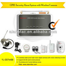 best quality GSM/GPRS home Security burglar alarm host system with photo-taking Camera and monitor