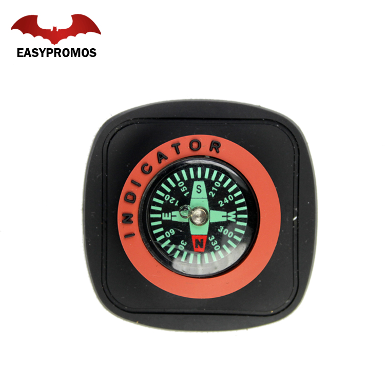 Eco-friendly soft silicone raised embossed custom rubber pvc patch wtih compass