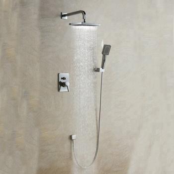 Luxury Bath Shower Faucet Set 8u0026quot; Rain Shower Head Hand Shower Spray