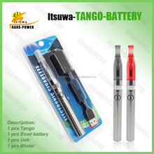scientific design 2015 new item china OEM ego h2 evod electronic cigarette tango starter kit