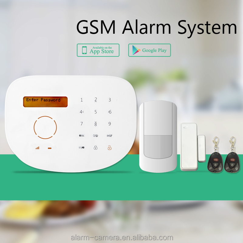 standard kits Home GSM alarm system touch auto in security & protection with receiver internal emitter gsm alarm system