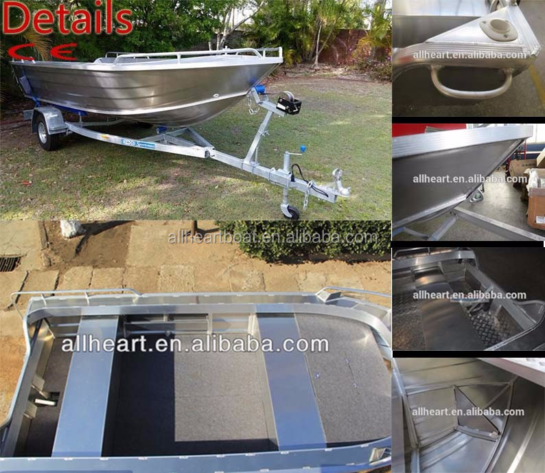 4.2m Allheart aluminum small dinghy boat /yacht/vessel with outboard engine