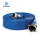 "Professional 6 bar fabric braided high compression irrigation pvc drain pipe 8"" 8 lay flat hose distributor"