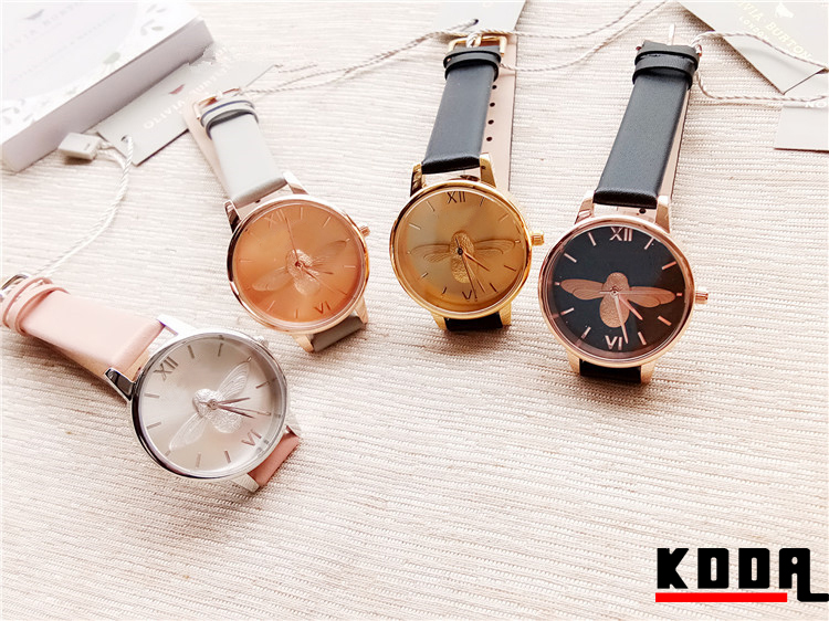 water resistant quartz watches 3 bar stainless steel back women watches
