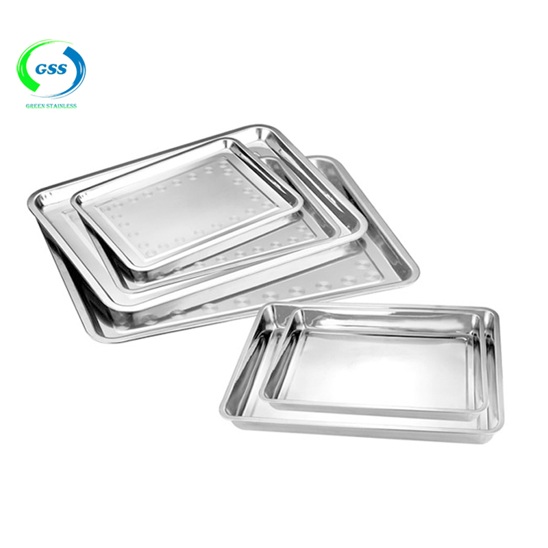Factory cheap price wide application stainless steel bbq trays food tray fruit tray
