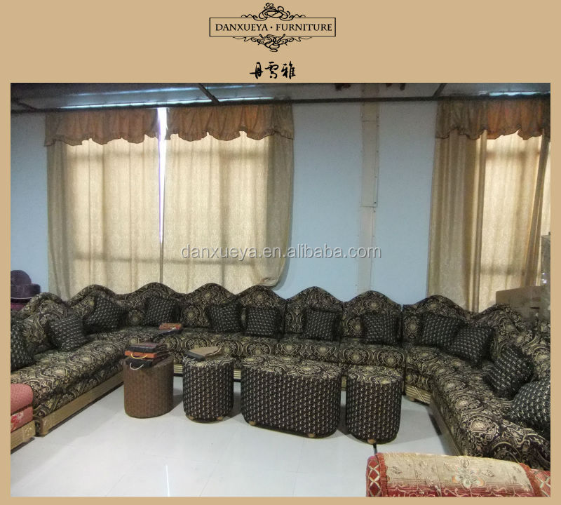Middle East Style Living Room Corner Fabric Sofa 3103