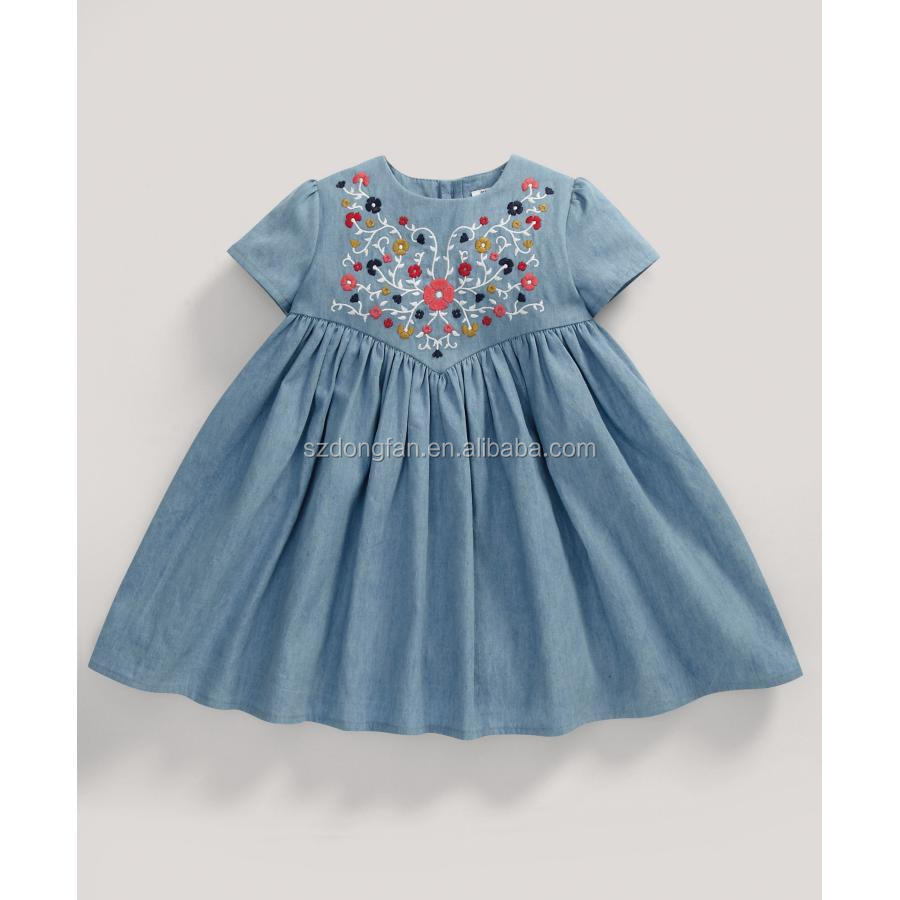 482323e06a1d Baby Shops 2016 Spring Summer Denim Baby Dress 2-10years Old Kid ...
