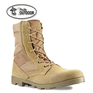 Men's 9 Inch Desert Tan Boots with Side Zipper for Work Construction Hiking Hunting Outdoors Durable Comfortable Military boots