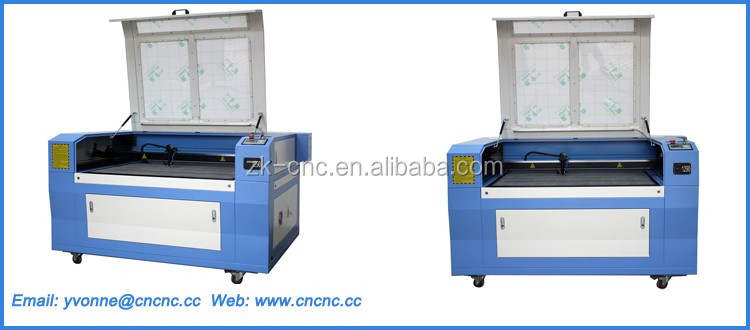 Double platform laser machine,130W CO2 Laser cutting machine with red pointer ZK-1390*130W 1300*900mm