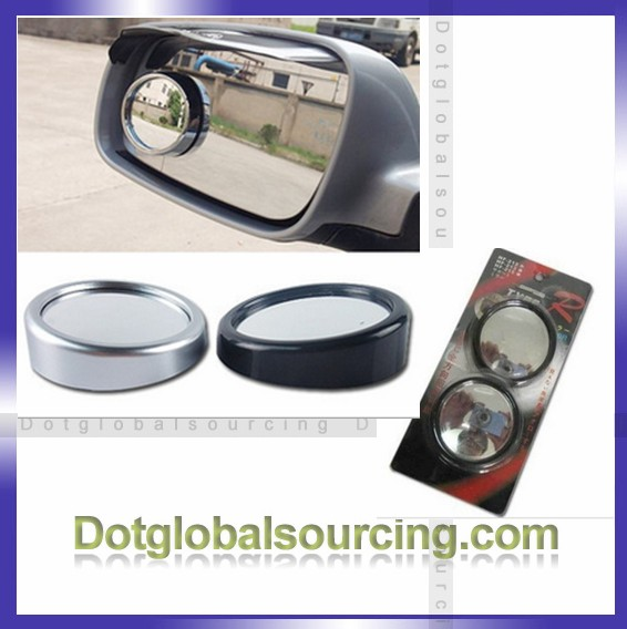 Wholesale 360 Degree Rear View Rotate Small Round Auto Car Rearview Mirror 2pcs/lot