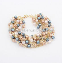 New Design Pearl Bracelet Artificial Pearl Chain Bracelet(SWTBL002)