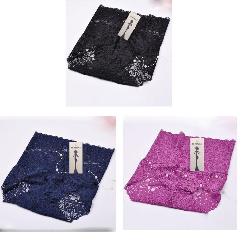 3 шт./лот, модные кружевные сексуальные трусики для женщин, хлопковые трусы без пяток, нижнее белье для женщин(Китай)