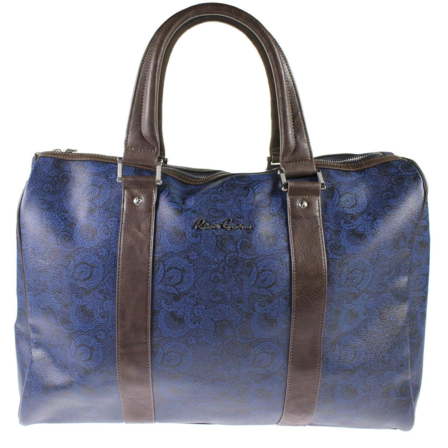Get Quotations · Robert Graham Mens Ausable Faux Leather Printed Duffle Bag 103ec9712a5f4