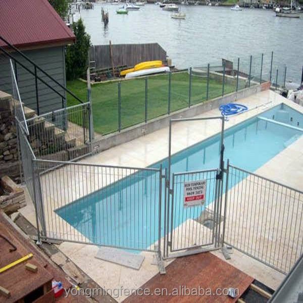 Security Retractable pool fencing and pool fence gate