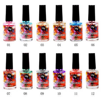 New Arrival Fantastic 12 Smoke Colors Ink Blooming Nail Polish Gel fro Nail Art