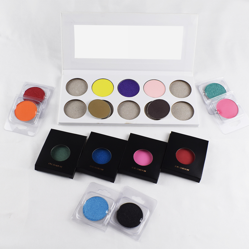 High pigment private label pressed custom custom logo custom all color eyeshadow palette eyeshadow <strong>cosmetics</strong> moq 1000pcs