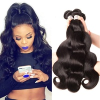 Freeshipping brazilian human hair body wave 3 bundles wavy hair weaves for black women