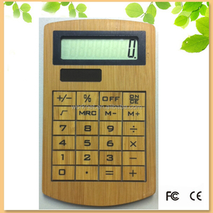 New premium novelty Item promotional gift solar power bamboo mini calculator 8 digits