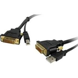 Comprehensive Cable And Connectivity Company - Comprehensive Standard Series Dvi Male To Male With Usb Cable 10Ft - Usb/Dvi For Satellite Receiver, Projector, Monitor, Video Device - 10 Ft - 1 X Dvi-D Male Digital Video, 1 X Type A Male Usb - 1 X Dvi-D Male Digital Video, 1 X Type B Male Usb -