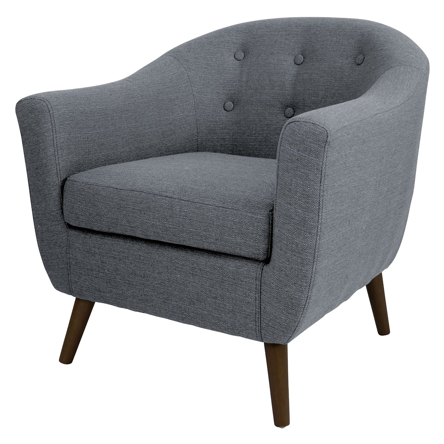 Superbe Get Quotations · Tufted Accent Armchair Made Of Modern Grey Upholstery  Woven Fabric. This Retro Club Chair Adds