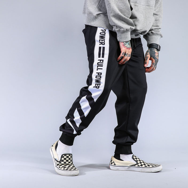 Striped Patchwork Harem Pants Mens 2017 Hip Hop Printed Color Block Casual Joggers Sweatpants Trousers Male Streetwear