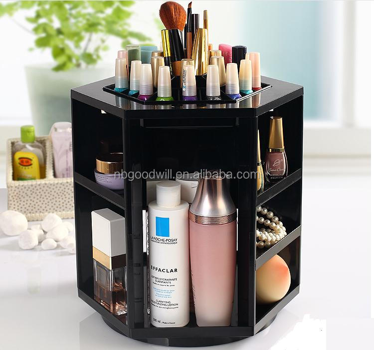 Rotate 360 degrees cosmetics receive a case bathroom vanity