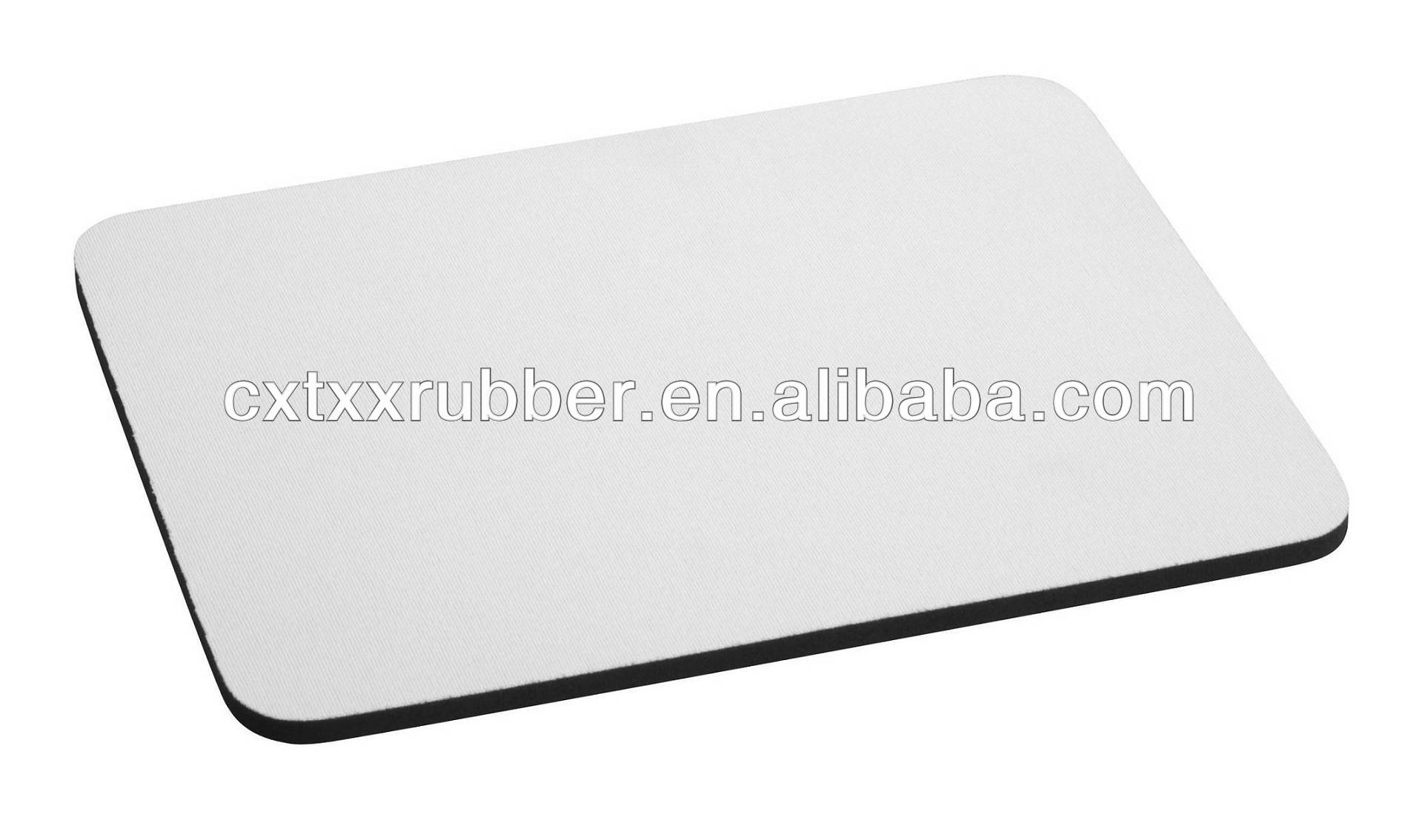white polyester fabric mouse pad,white color mousepad