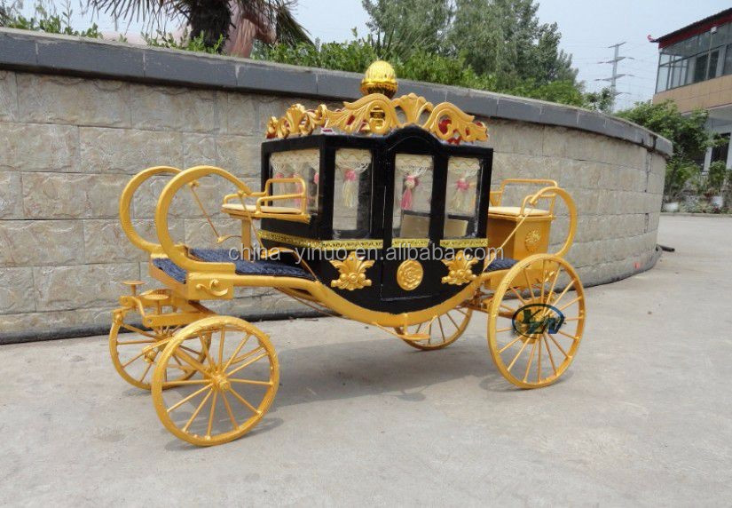 Handmade steel small royal carriages for Ornaments