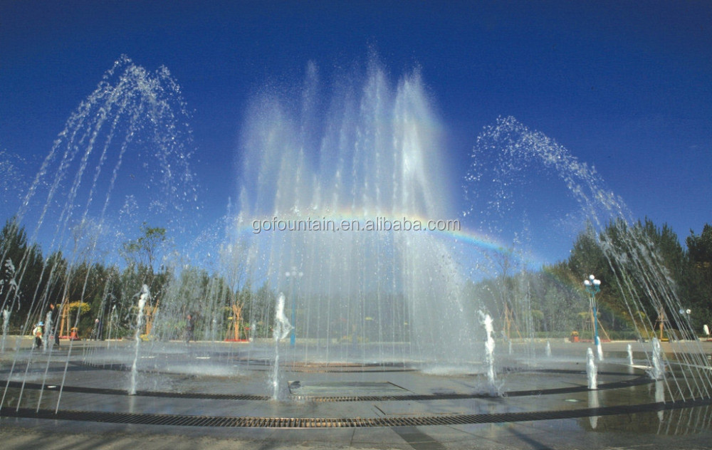 Charming High Quality Colorful Floor Water Fountain, Dance Floor Fountain For Square