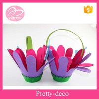 High quality cheap Spring theme decoration felt butterfly shape basket