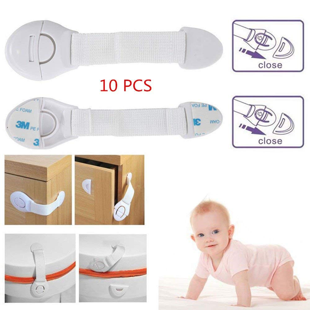 Baby Infant Proofing Cabinet Drawer Closets Locks Child Proof Safety Lock Latch With Strong Adhesives