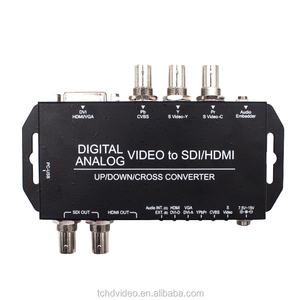 Easy to install analog singal to digital signal converter only 4 video converter up/down scaling
