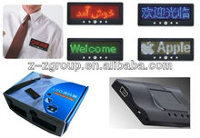 LED name badge - USB Rechargeable led moving message display/ scrolling message - LED name badge