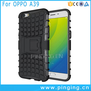 low priced 2b0e0 85795 shockproof 2 in 1 hybrid kickstand back cover phone case for OPPO A39 , pc  tpu case for OPPO A39