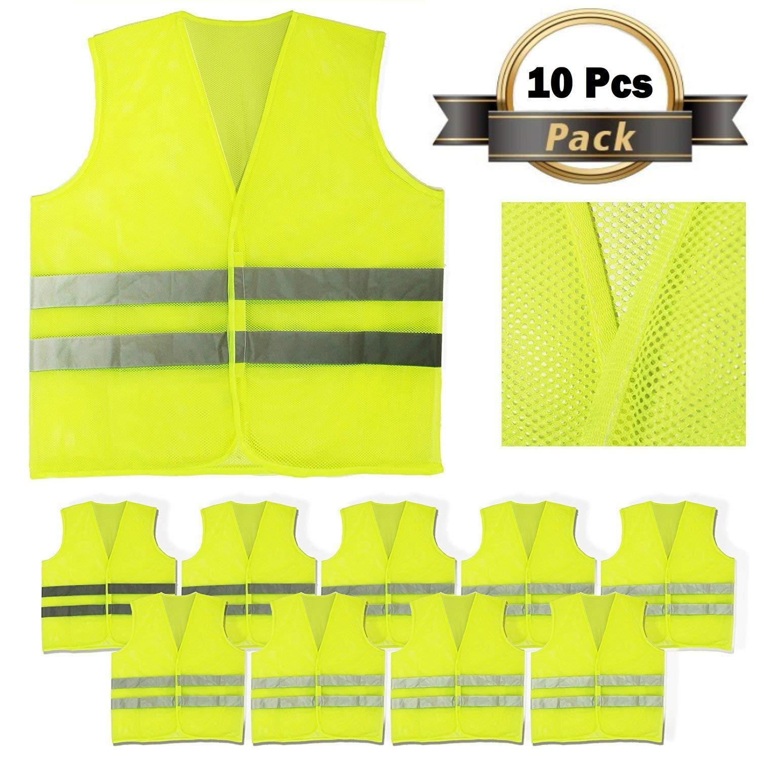 Safety Clothing Efficient Reflective Vest Breathable Mesh Multi Pockets Construction Traffic Safety Protective Jacket Fluorescent Clothes Work Clothing