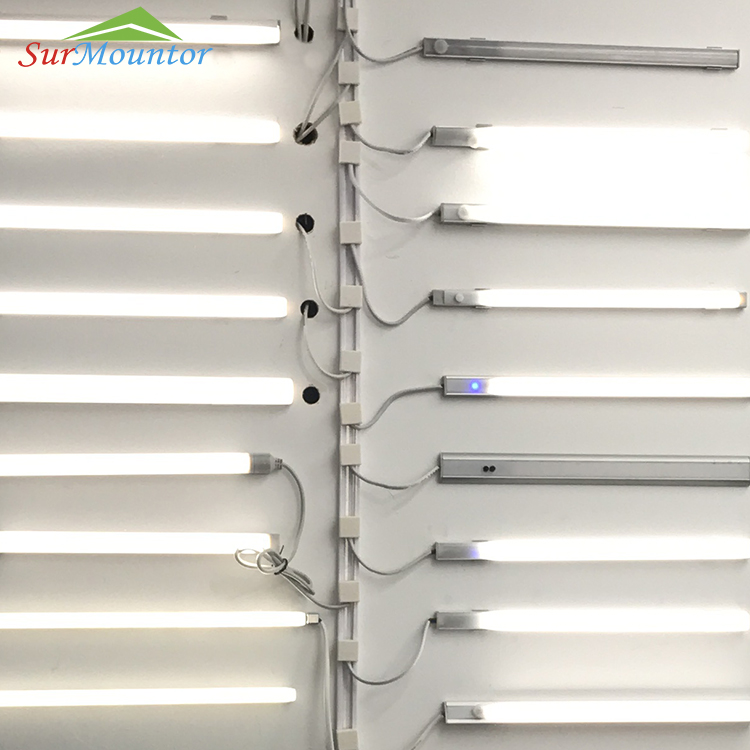 Mini Super Slim DC Power Track Management System retail shelf lighting power rail for led strip light Shelf Display Lighting
