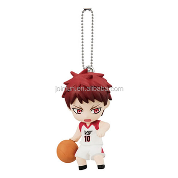 custom cartoon design 3d pvc keychain, custom anime figure toy soft pvc keychain