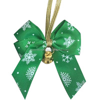 Facrory Making Christmas printing ribbon bows