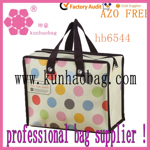 travel nylon dots shopping bags