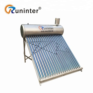 Hot Sale Stainless steel Evacuated Tube Low Pressure solar water heater price 100 liter to 300 liter CE ISO