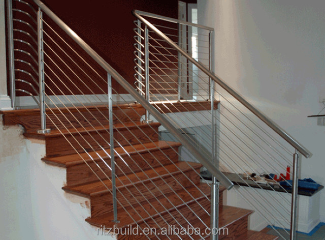2014 Stainless Steel Wire Railing For Wooden Deck Top Rail