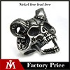 2017 Antique Jewelry Mens Silver Stainless Steel Biker Skull Ring Sheep Jewelry