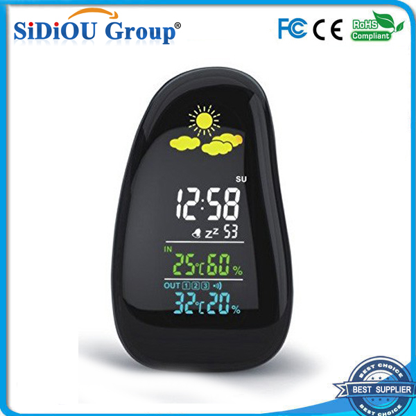 outdoor led wake up light clock led and temperature display