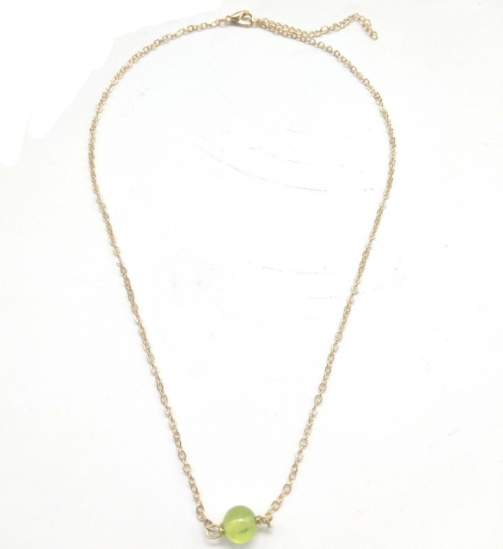 zooying Dainty Gemstone Choker or Layering Simple Birthstone Necklace Rose Gold and <strong>silver</strong>