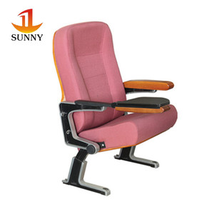 Elegant design colorful wood cinema seating chair