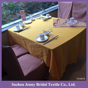 TCVIST3 new wholesale cheap yellow 100% Visa polyester tablecloth